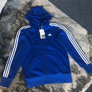 Brand New Adidas Men's Blue Size Small Zip Hoodie